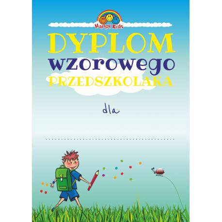 """DYPLOM """"WZOROWY PRZEDSZKOLAK"""" - 24 SZTUK"""
