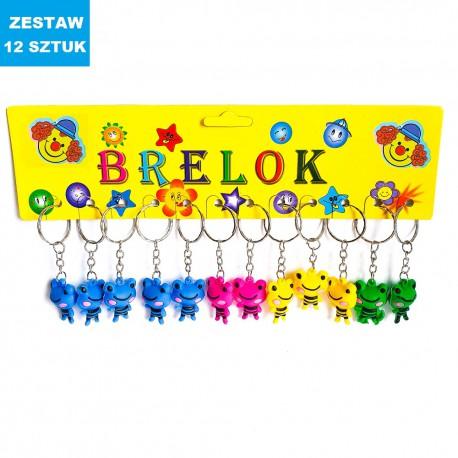 """BRELOKI """"ŻABKI 3""""- 12 szt."""