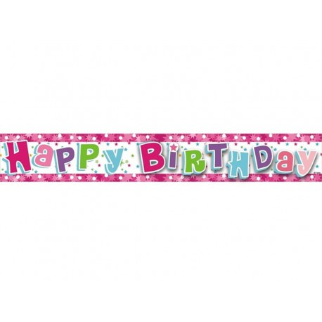"BANER 'HAPPY BIRTHDAY"" (RÓŻOWY)"
