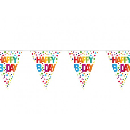 "BANER FLAGI ""HAPPY BIRTHDAY"" - 10 M - 1 SZT."