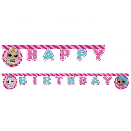 "BANER HAPPY BIRTHDAY ""LOL"" - 210 CM - 1 SZT."