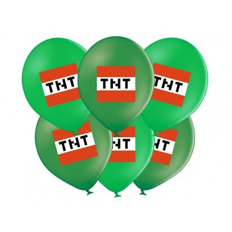 """BALONY NADRUKIEM """"MINECCRAFT TNT"""" - 37 CM - 6 SZT."""