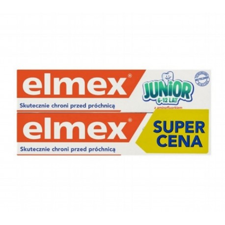 ELMEX JUNIOR (6-12 lat) 75ml - 2 szt.