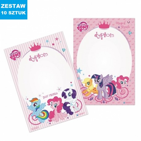 "DYPLOMY ""MY LITTLE PONY""- 10 szt."