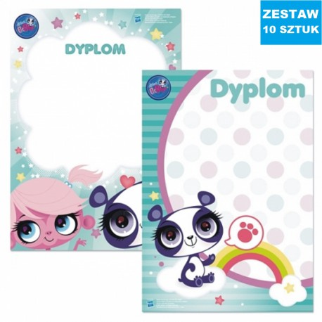 "DYPLOMY ""MY LITTLEST PET SHOP""- 10 szt."