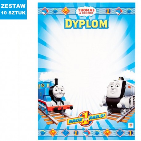 "DYPLOMY ""THOMAS & FRIENDS""- 10 szt."