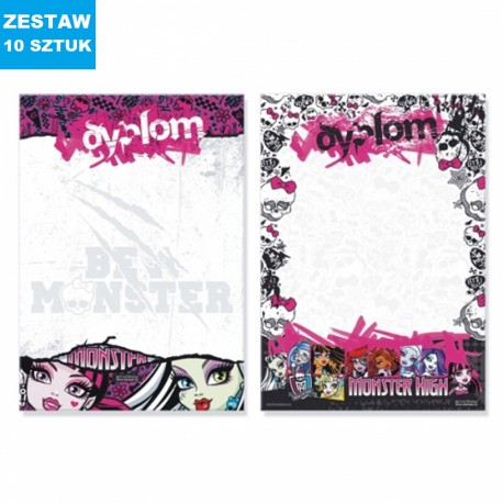 "DYPLOMY ""MONSTER HIGH""- 10 szt."