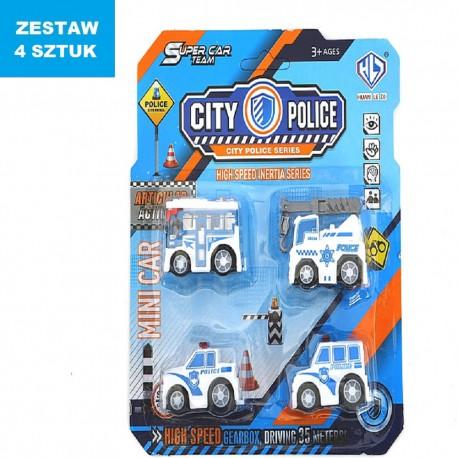 """POJAZDY """"CITY-POLICE"""" - 5 szt."""