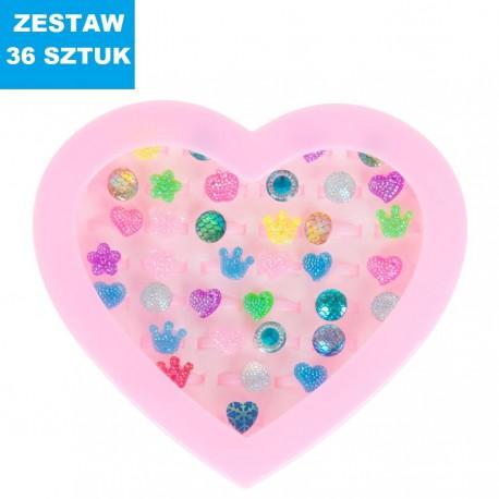 """PIERŚCIONKI """"Zestaw 5""""-36 sztuk"""