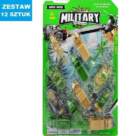"""POJAZDY """"MILITARY"""" -12 szt."""