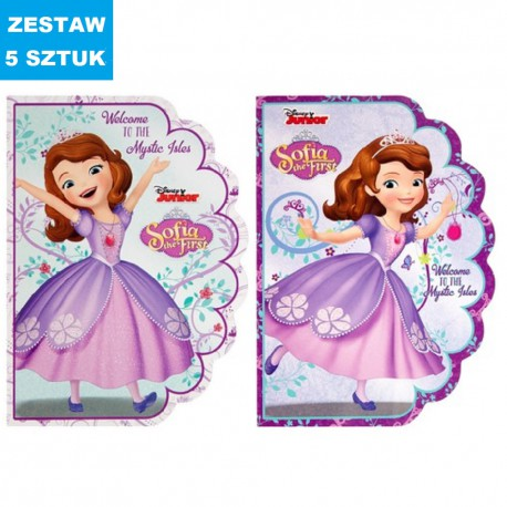 """NOTES """"SOFIA THE FIRST""""- 5 szt."""