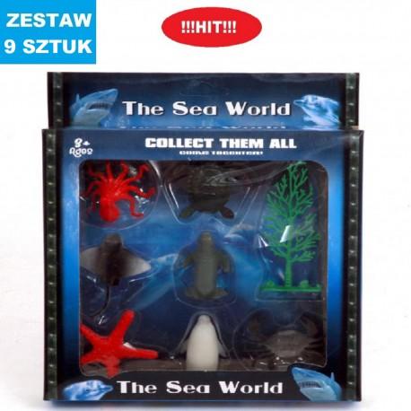 """ZWIERZĄTKA """"THE SEA WORLD"""" - 9 szt"""