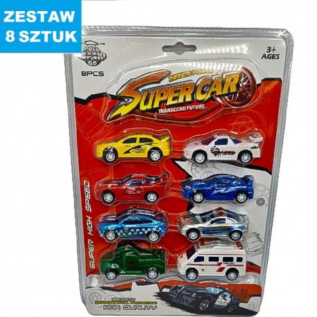 "AUTKA METALOWE ""SUPER CARS"" - 8 szt."